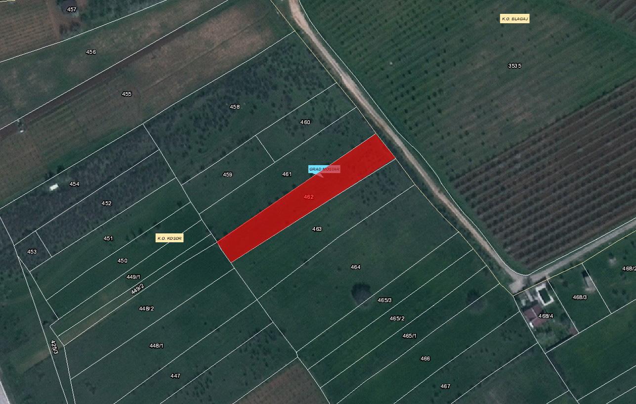 Zemljište u Kosoru 1971 kvadrata