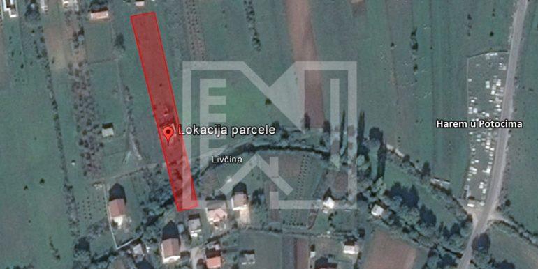 Zemljište sa ruševnom kućom Kutilivač lokacija