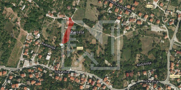 Zemljište u Ilićima 1574m2 šira lokacija