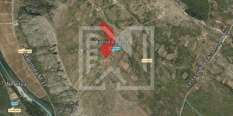 Zemljište u Pijescima 73 duluma šira lokacija