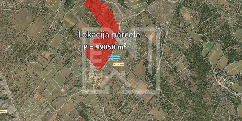 Zemljište u Pijescima 73 duluma lokacija